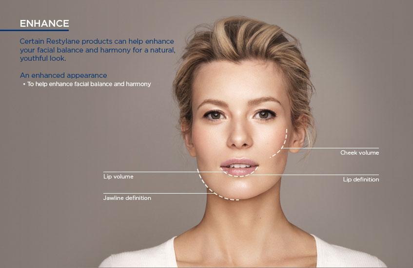 Lip Filler, dermal filler, cheek filler, under eye filler, jawline filler performed by Registered Nurse at Flawless Laser