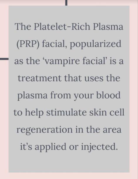 PRP vampire facial in Calgary